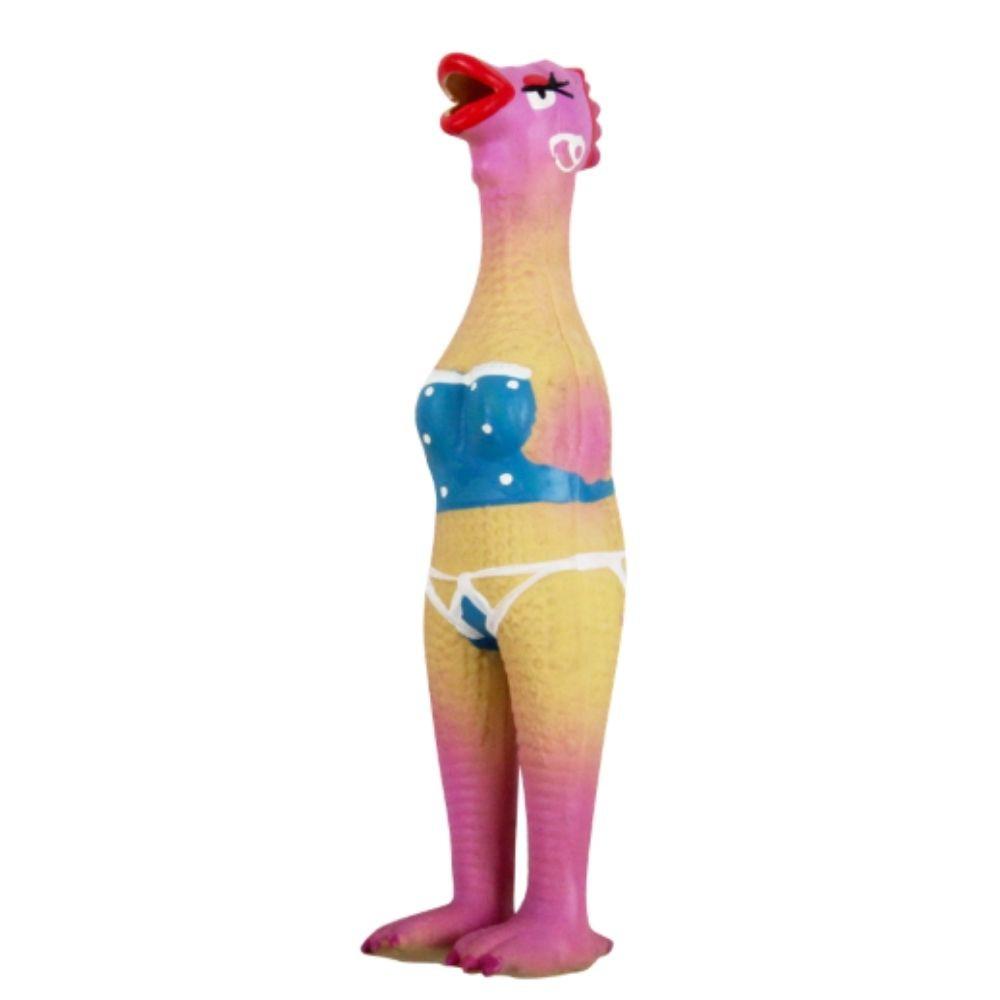 Brinquedo Galinha com Apito para Cachorro Pawise
