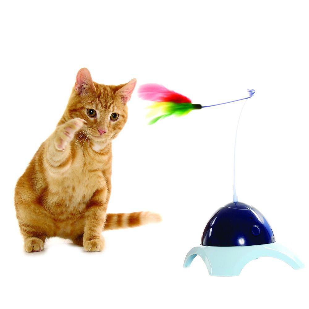 Brinquedo Interativo para Gato Pena Giratória Pawise