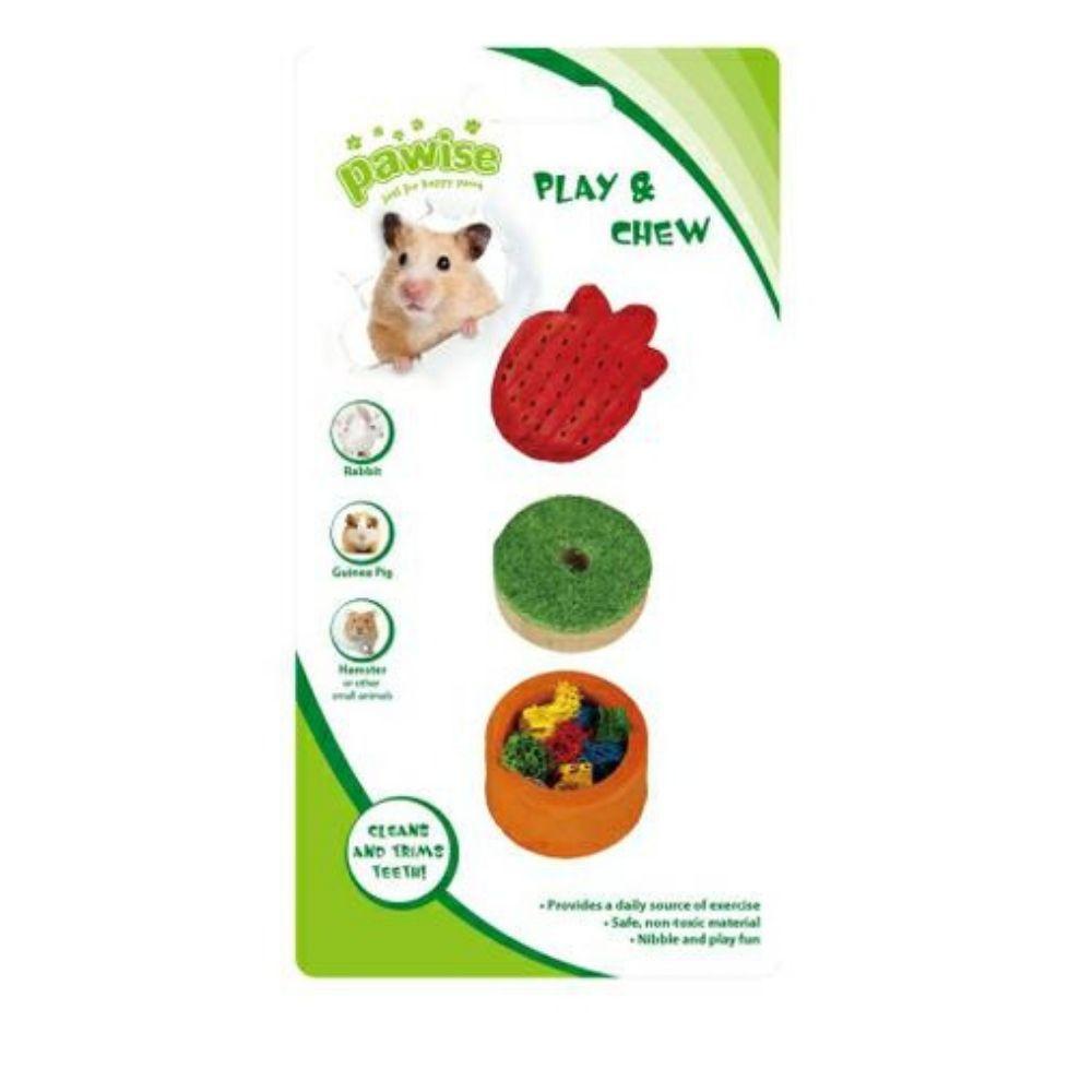 Brinquedo para Roedor Madeira e Bucha Vegetal Pawise