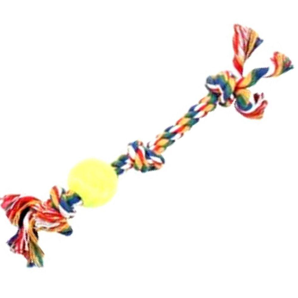 Brinquedo para cachorro Corda com Bola de Tênis Pawise