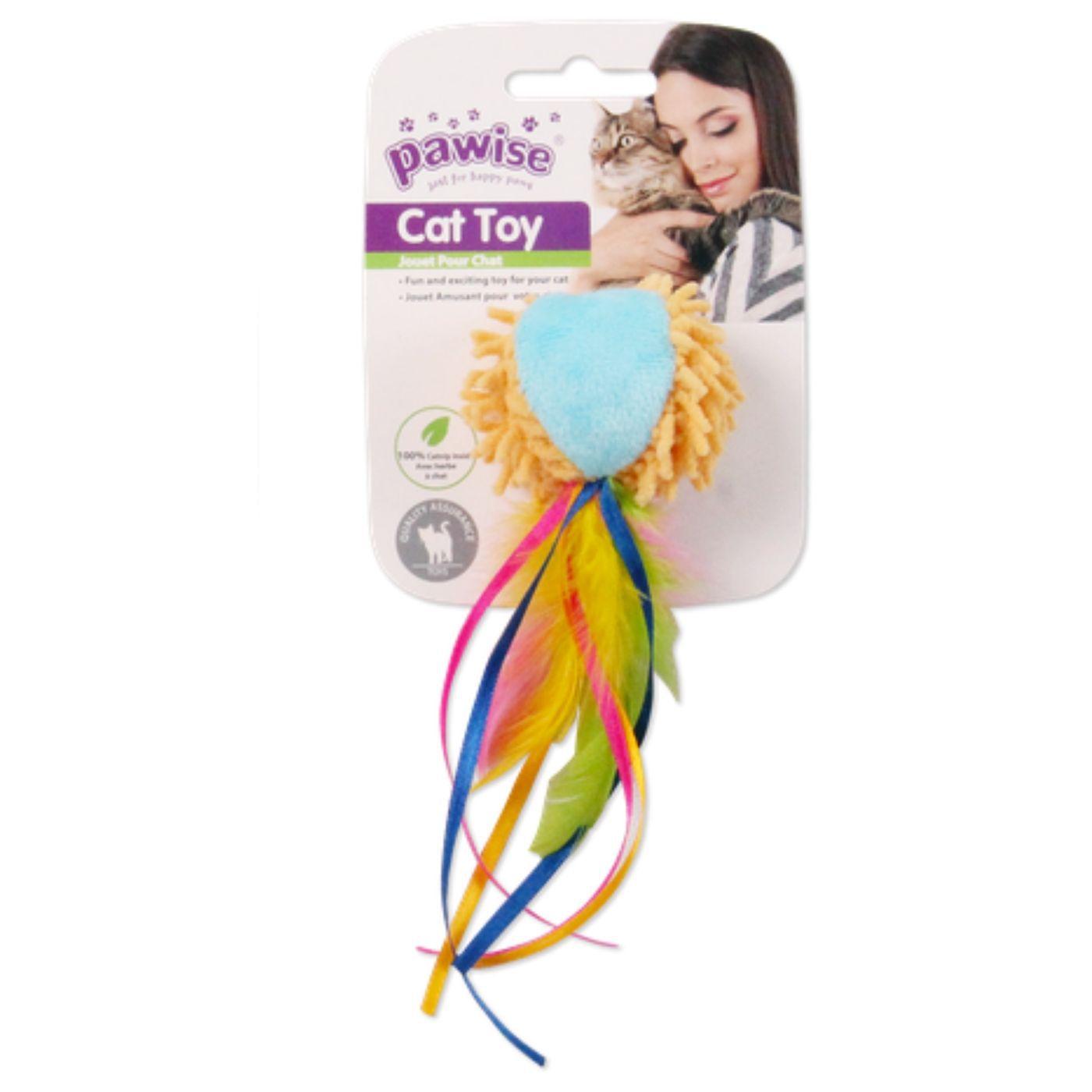 Brinquedo para Gato Bola com Cauda com Catnip Pawise