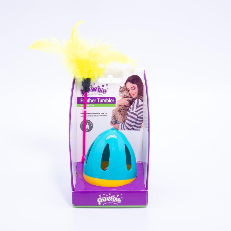 Brinquedo Para Gato João Bobo com Pena Pawise