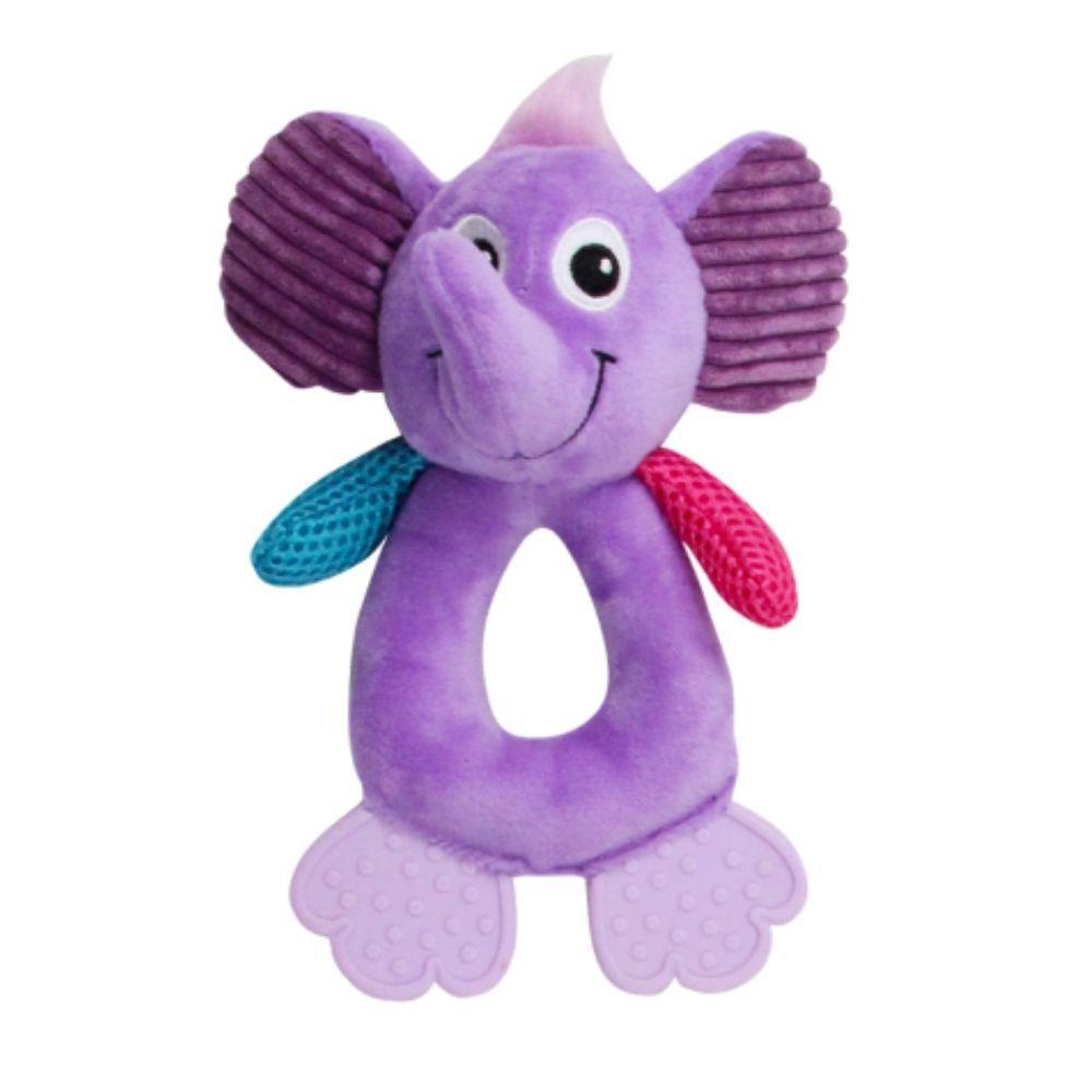 Brinquedo Pelúcia Elefante com Apito Pawise