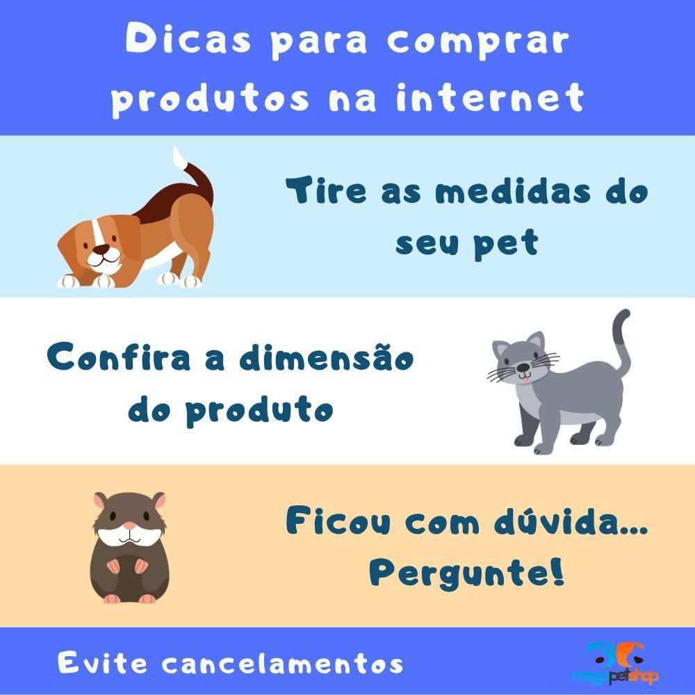 Coleira Estampada Para Cachorro Preto com Bolinha Tam P Pawise