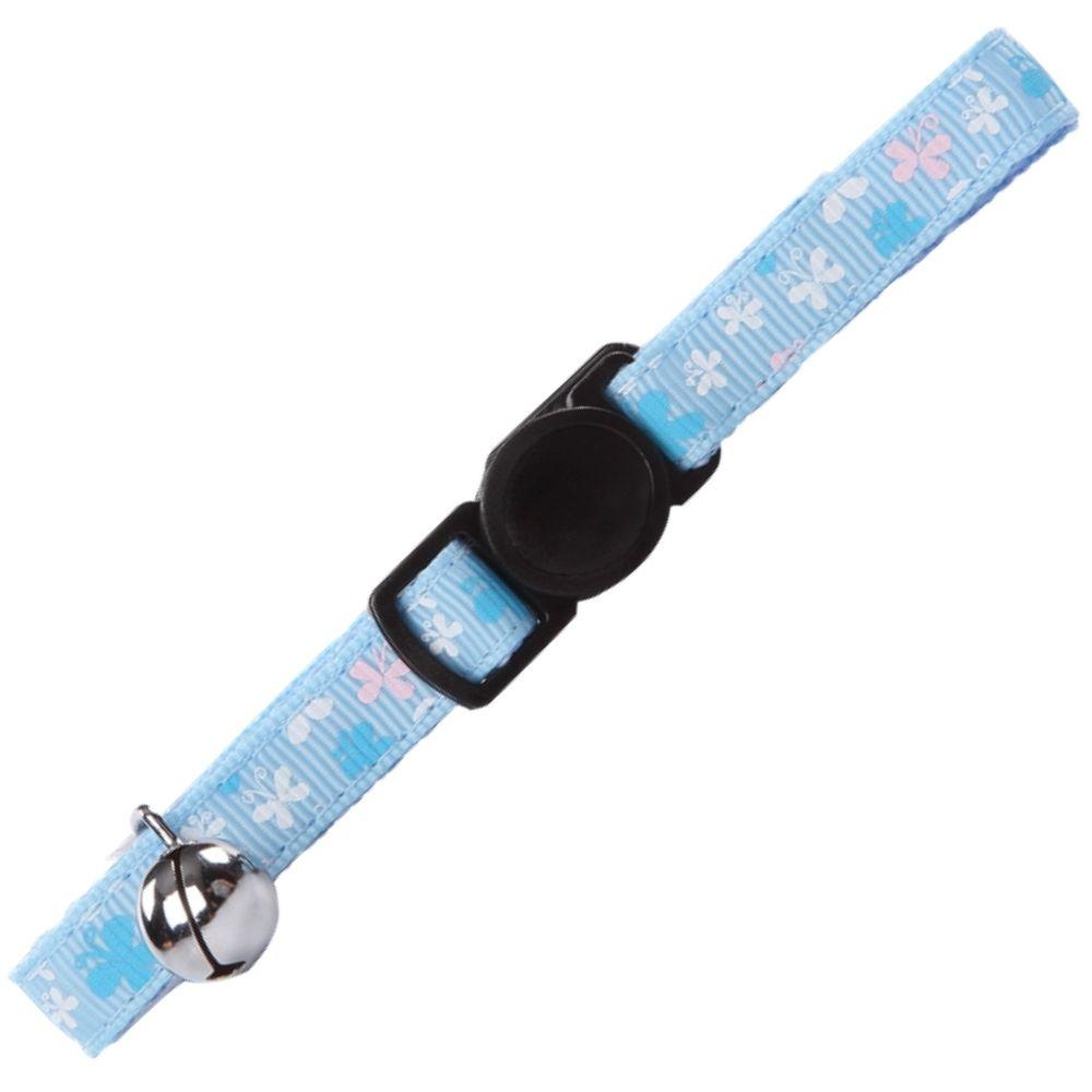 Coleira para Gato Azul com Borboleta Pawise