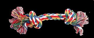 Brinquedo para Cachorro Corda Colorida 18cm