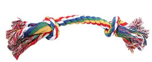 Corda Desfiada c/ 2 Nós Colorida GG (nó a nó:30,5cm, compr. total: 60cm,