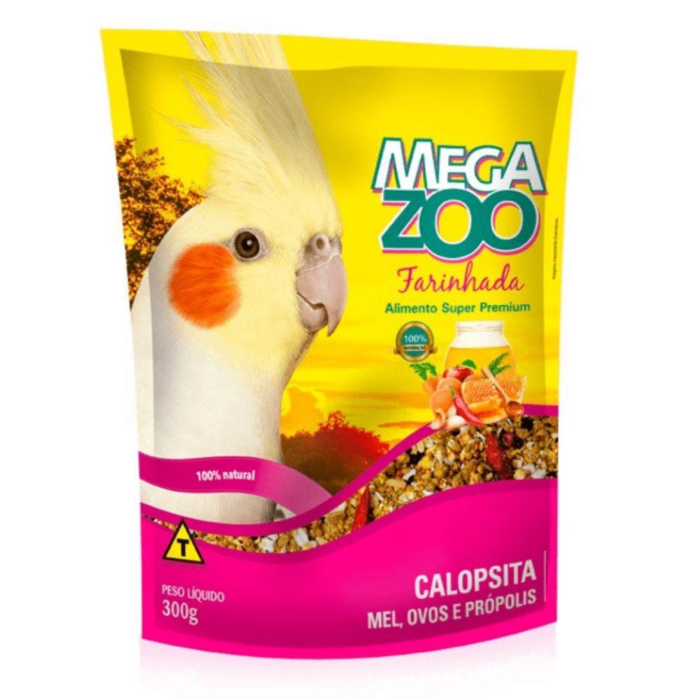 Farinhada para Calopsita Mel Ovos e Própolis 300g Megazoo