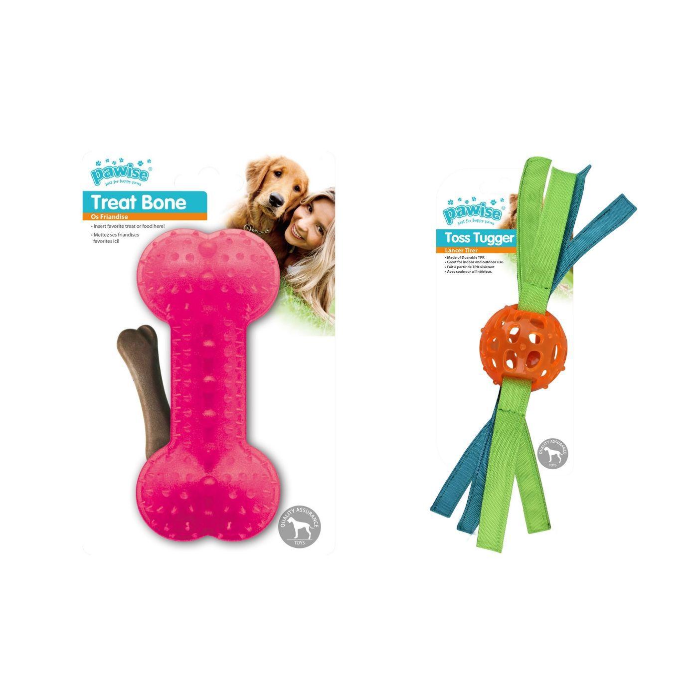 kit para cachorro 2 Brinquedos Mordedor e Porta Petisco Pawise