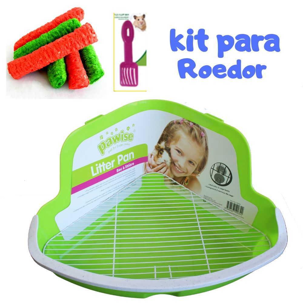 Kit Banheiro para Roedor e Brinquedo Comestível Pawise
