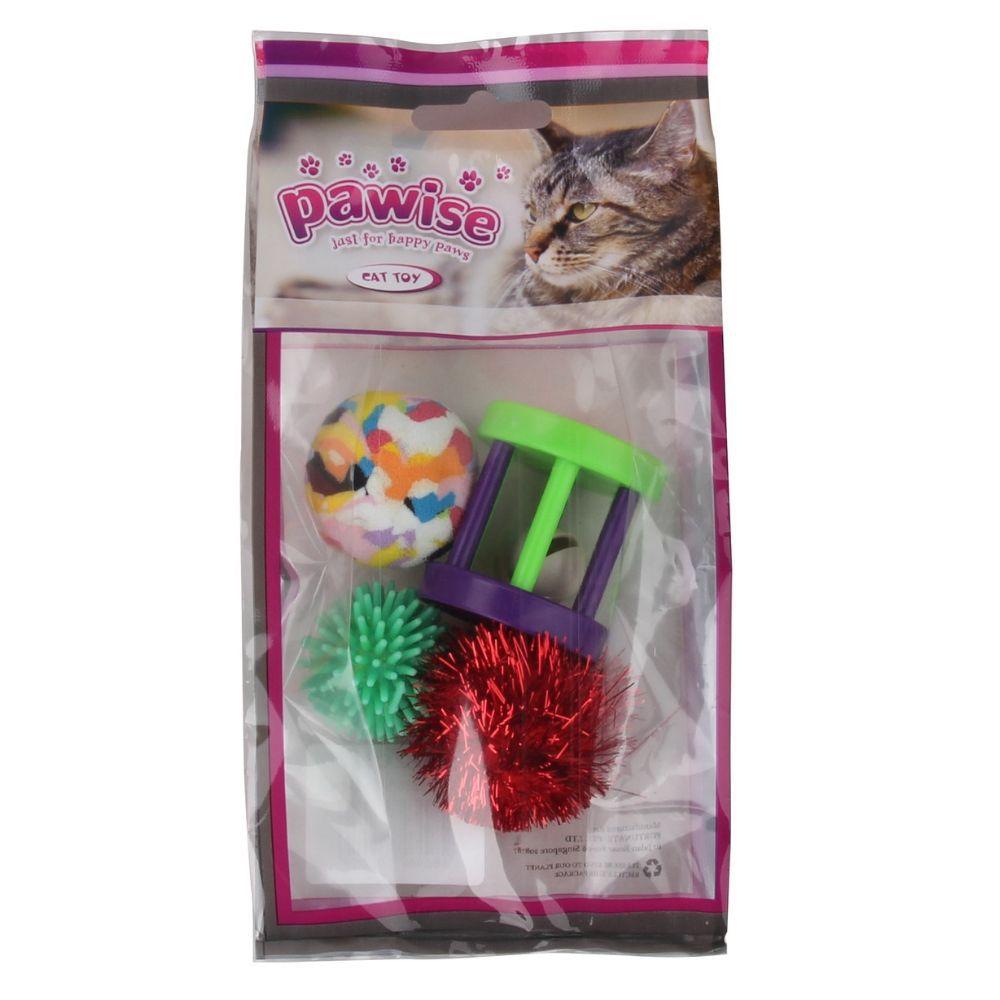 Kit Brinquedos para Gato com 4 unidades Pawise