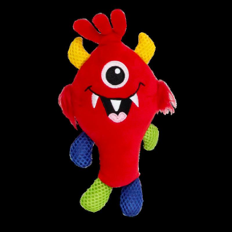 Kit C/ 4 Brinquedos De Pelúcia C/ Apito Coleção Monster Pawise