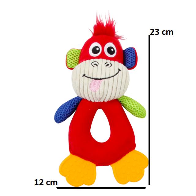 Kit c/ 4 Brinquedos de Pelúcia com Apito Coleção Vivid Life Pawise