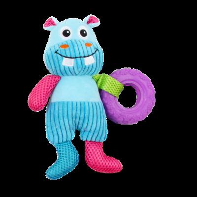 Kit c/ 4 Brinquedos de Pelúcia c/ Apito Coleção Natação Pawise