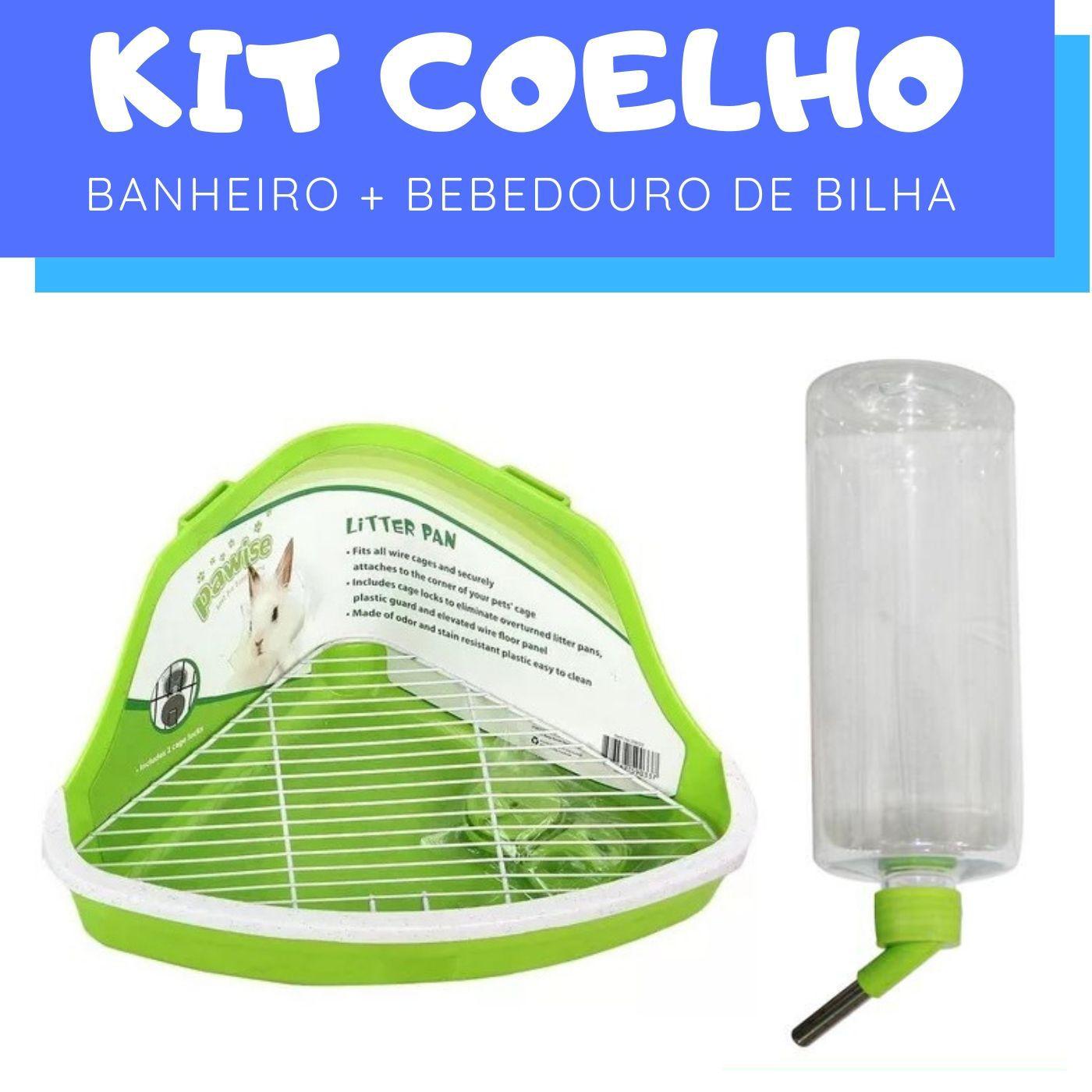 Kit Coelho com Bebedouro e Banheiro Pawise