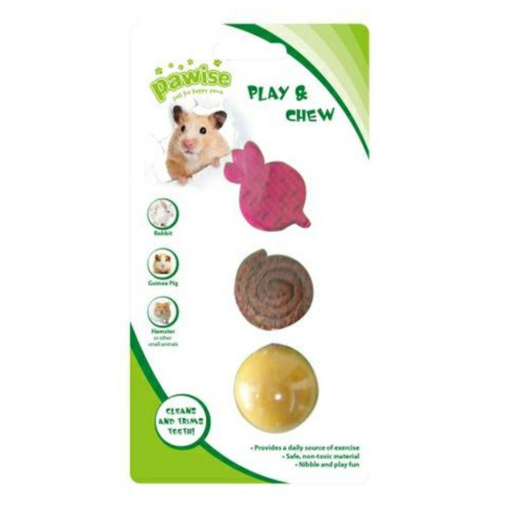 Kit com Brinquedo para Roedor Pawise