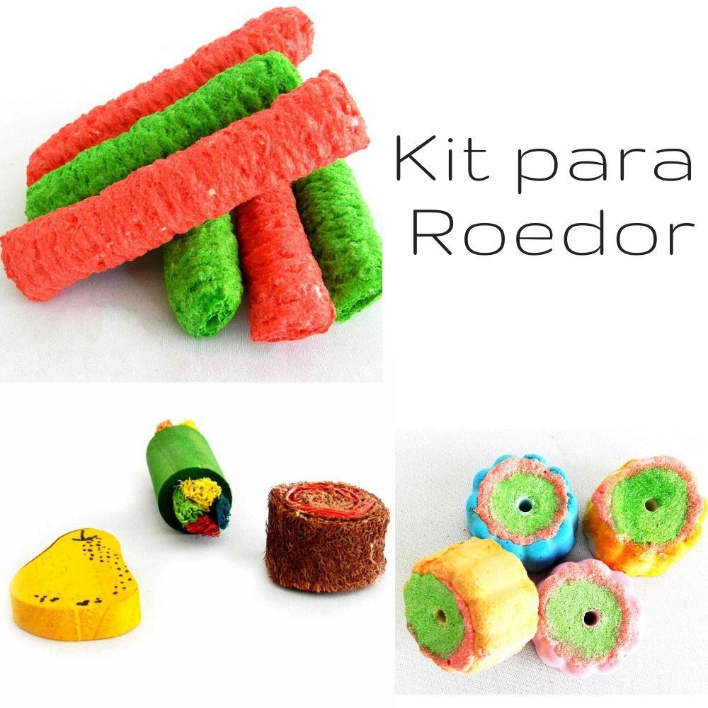Kit com Diversos Brinquedos para Roedores Pawise