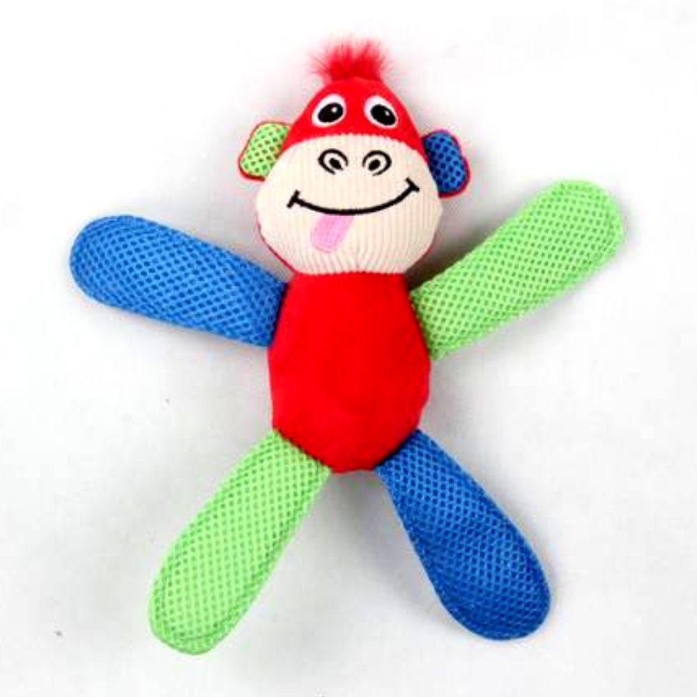 Kit Comedouro Dispenser e Macaco de Pelúcia Pawise