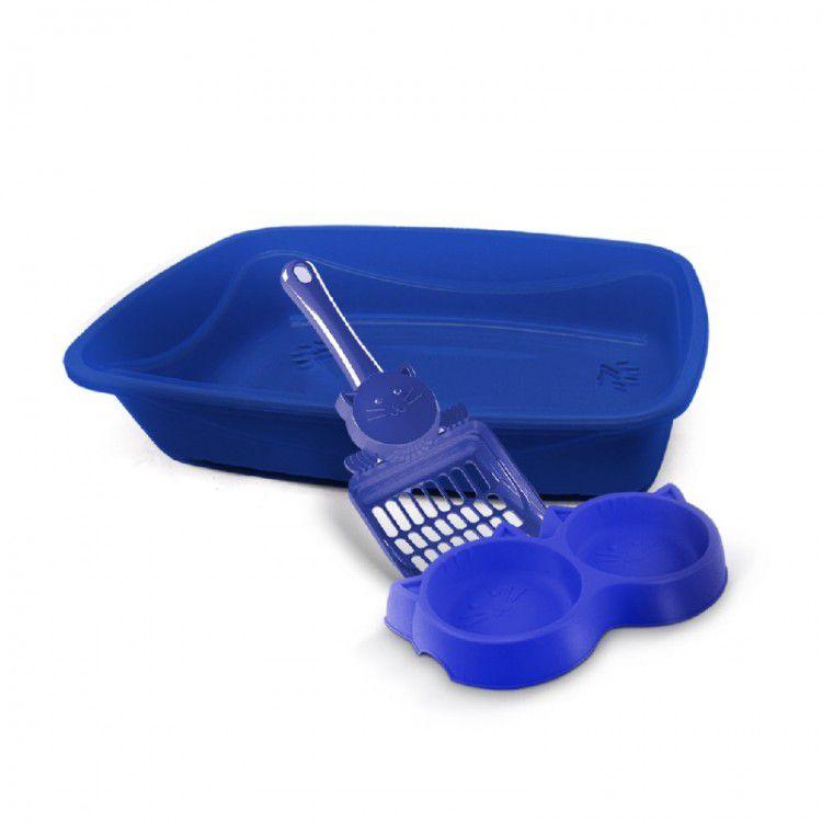 Kit para Gato 3x1 Completo azul Pet Injet