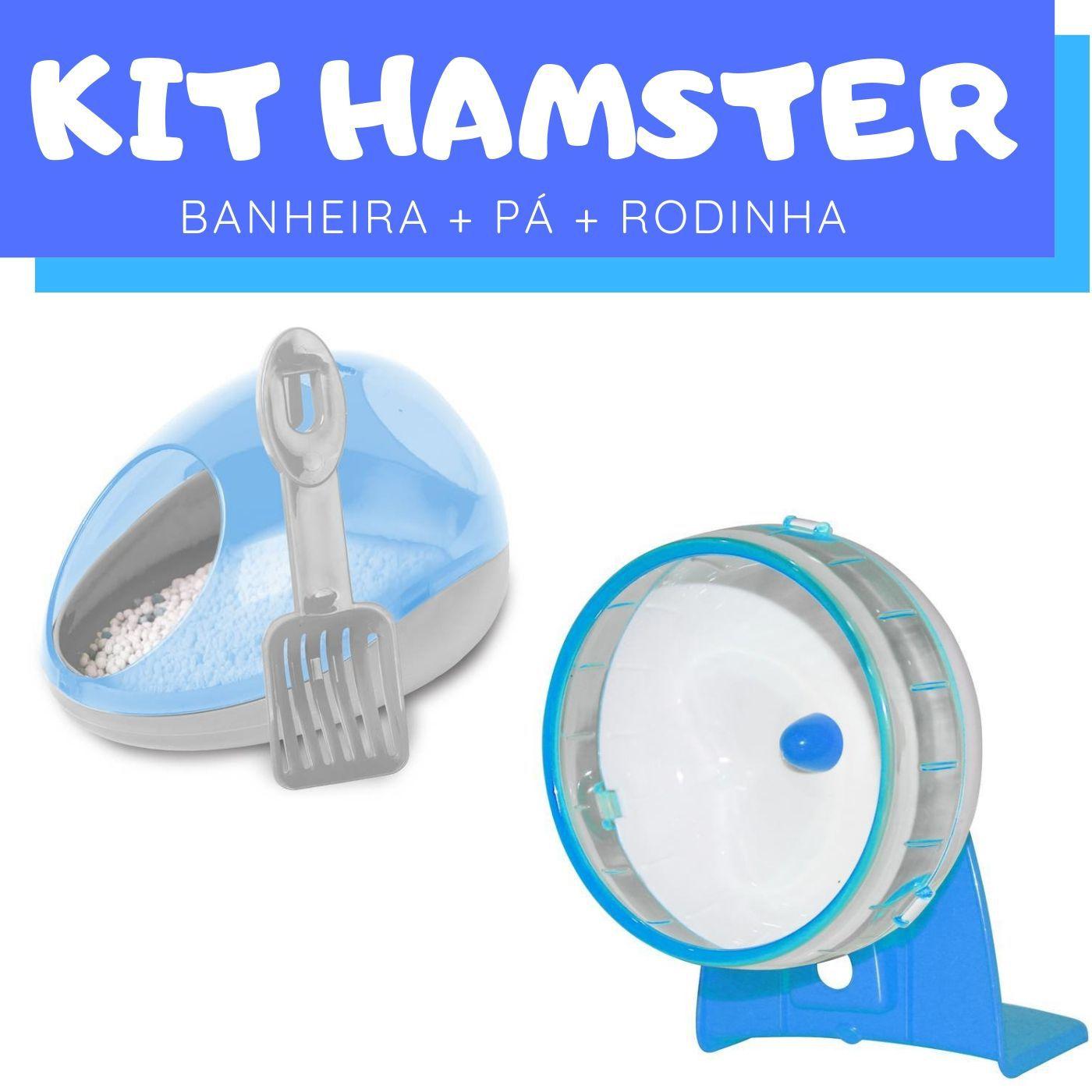Conjunto para Hamster com Banheiro Rodinha Pawise