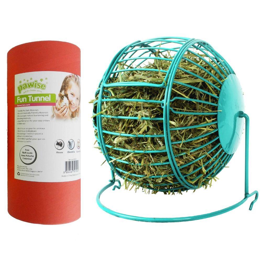 Conjunto para Hamster com Túnel e Porta Feno Pawise
