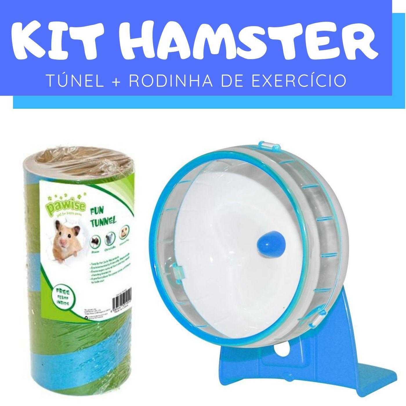 Conjunto para Hamster com Túnel e Roda Exercício Pawise