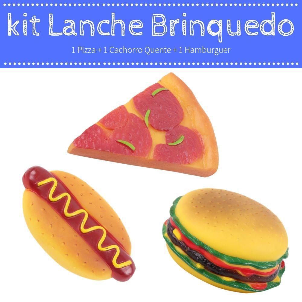 Kit Lanche para Cachorro Brinquedo Vinil Pawise