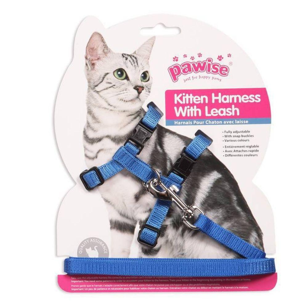 Kit Peitoral para Gato e Brinquedo Rato c/ Catnip Pawise