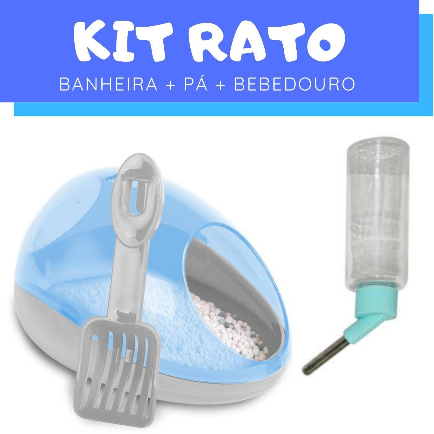 Kit Rato com Bebedouro e Banheiro e Pá Pawise
