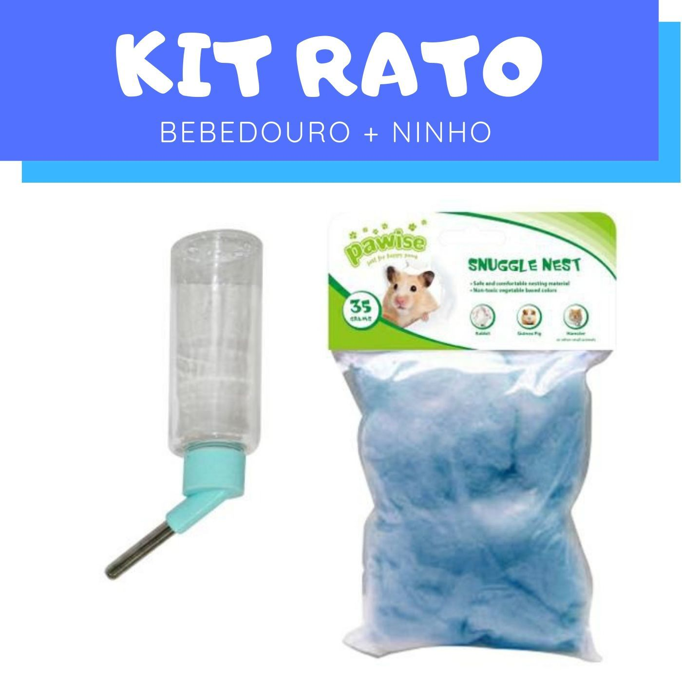 Kit Rato com Bebedouro e Ninho Pawise
