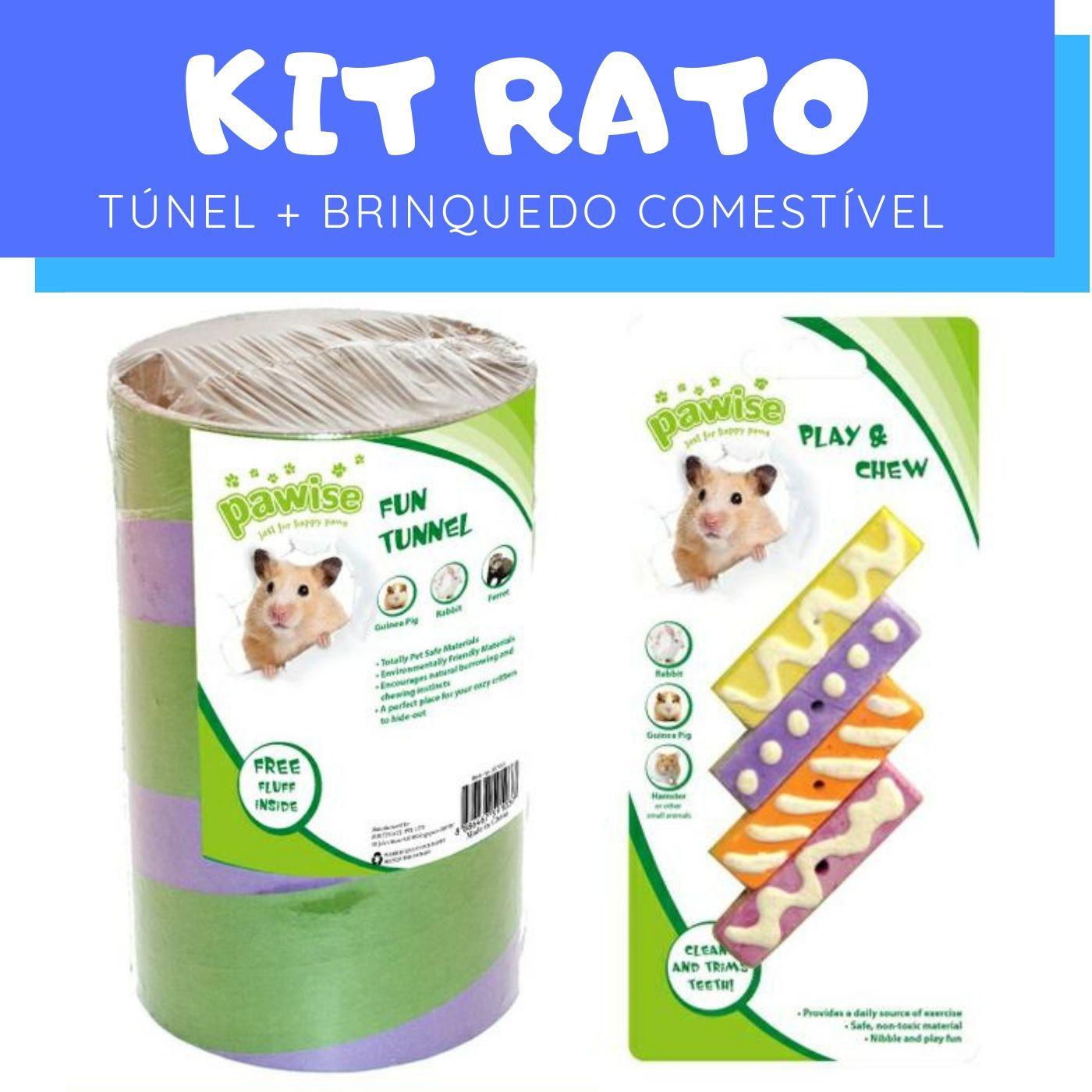 Brinquedo para Rato Túnel e Mordedor Pawise
