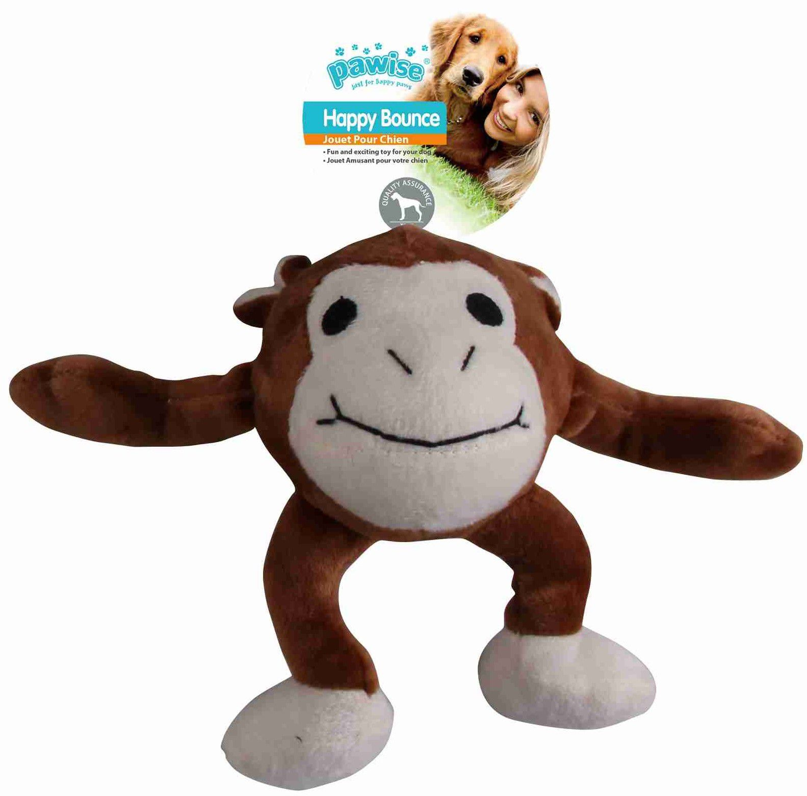 Brinquedo de pelúcia bola saltitante Macaco G Pawise