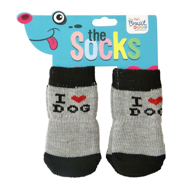 Meia para Cães The Socks Tamanho Médio (2 pares)