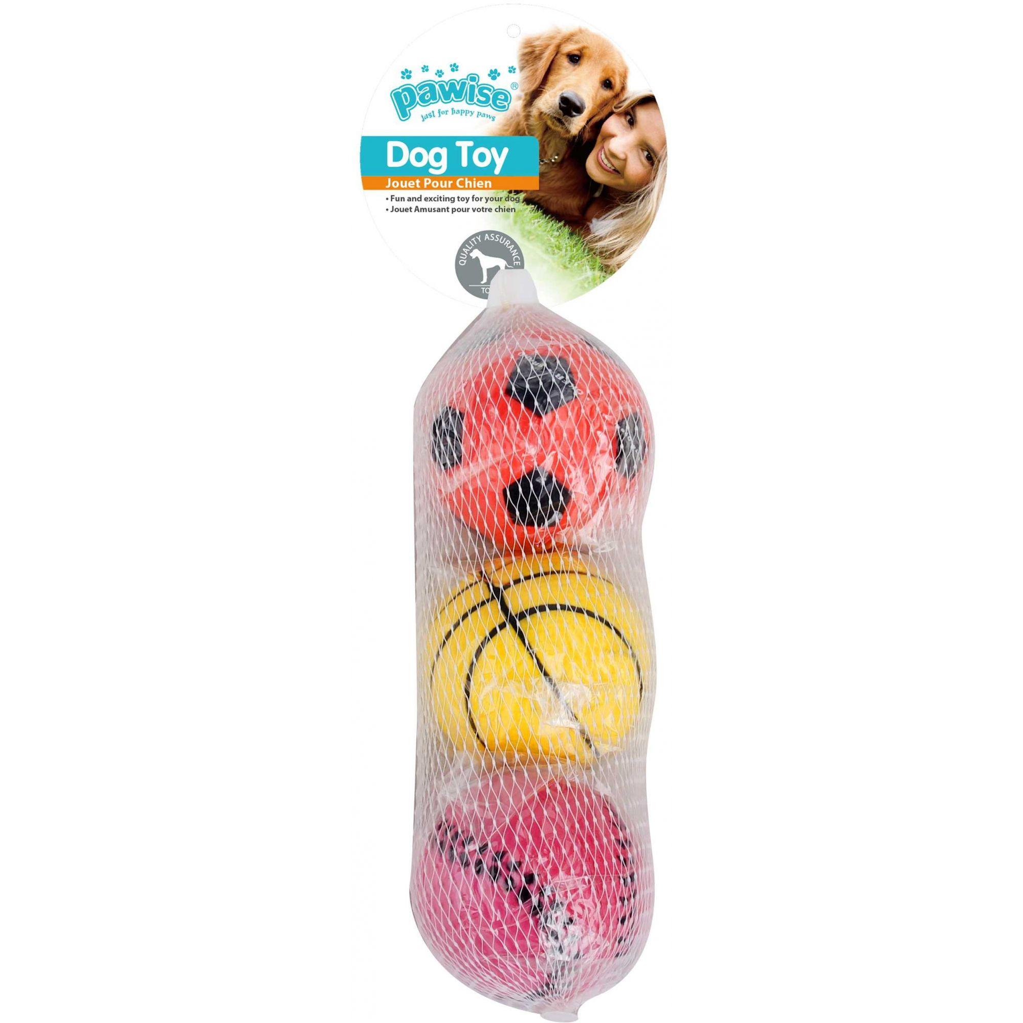 Kit com 3 Bolas para cachorro Pawise