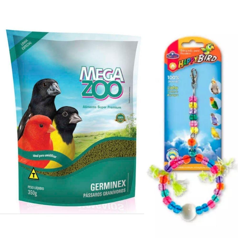 Ração Extrusada para Germinex 350g com Brinquedo Megazoo