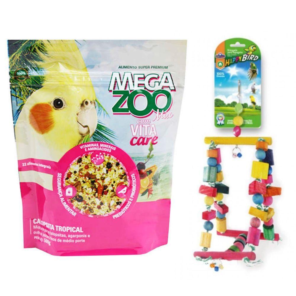 Ração MIX e Brinquedo para Calopsita Megazoo