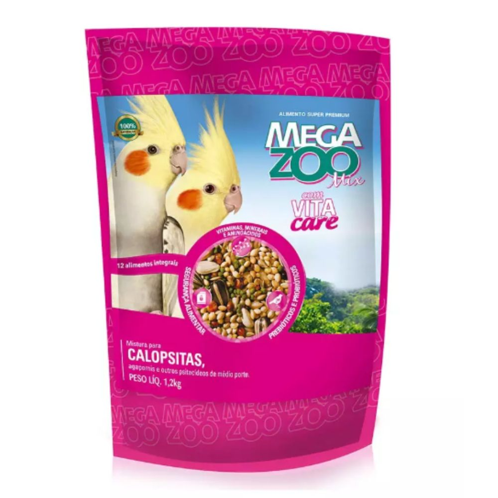 Ração Mix para Calopsita 1,2kg Megazoo