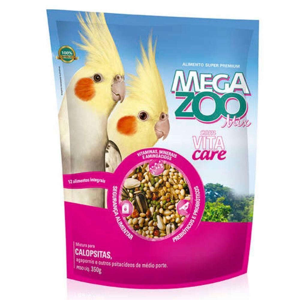 Ração Mix para Calopsita 350g Megazoo