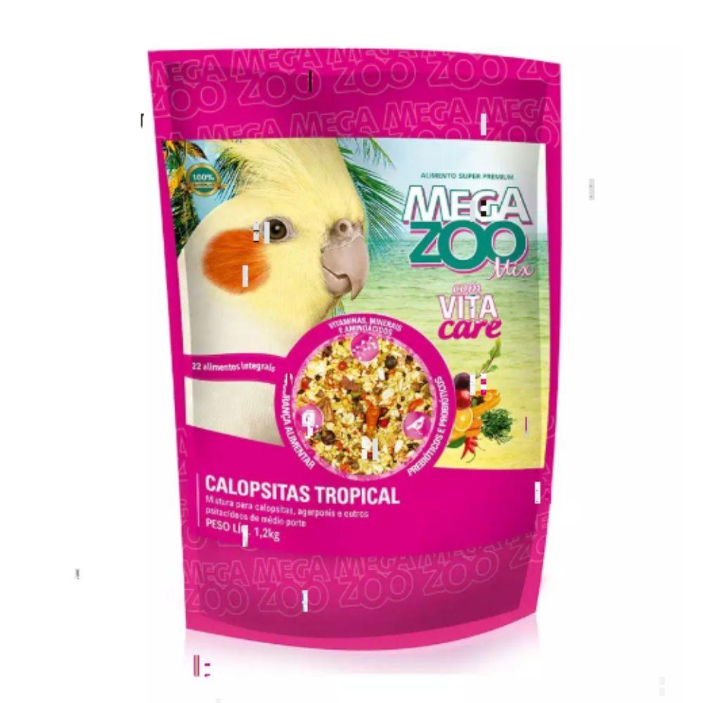 Ração Mix para Calopsita Tropical 1,2kg Megazoo