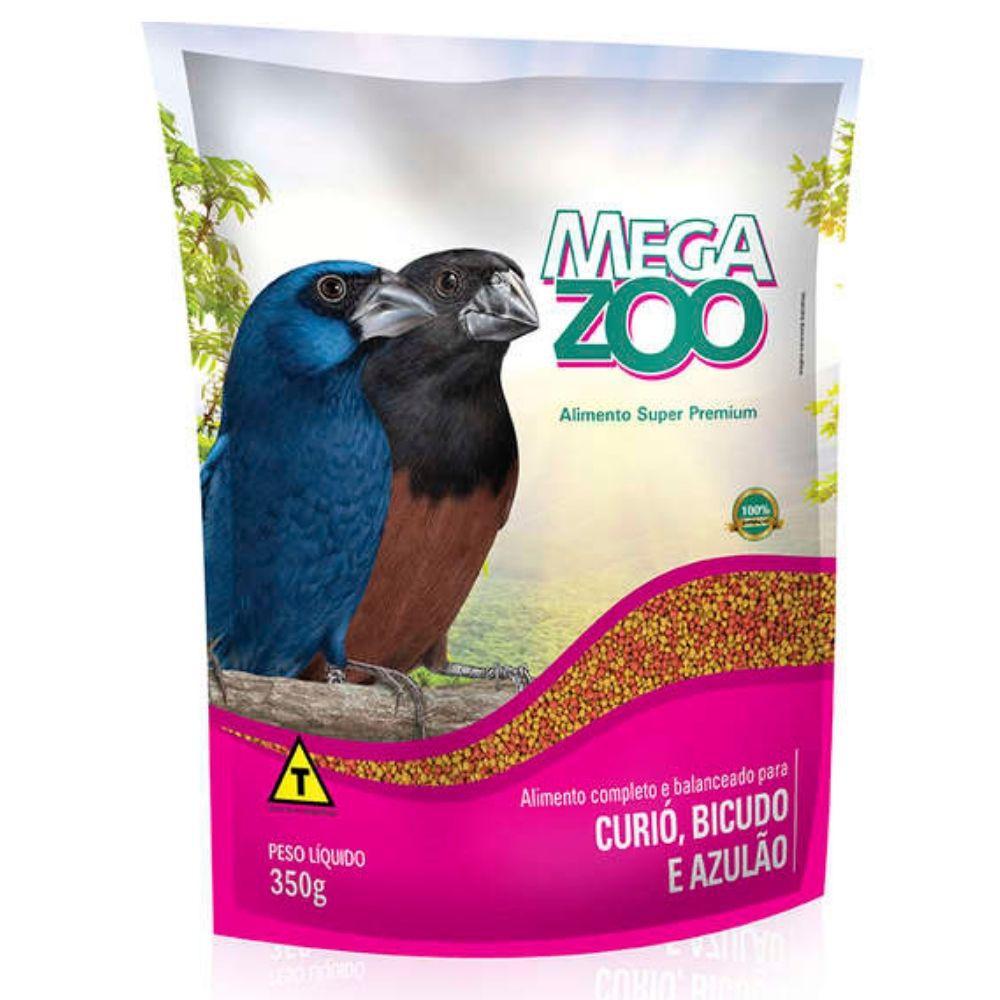 Ração Mix para Curió Bicudo Azulão 350g Megazoo