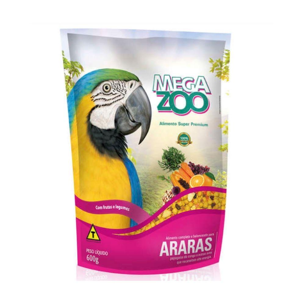 Ração para Arara Frutas e Legumes 600 g Megazoo