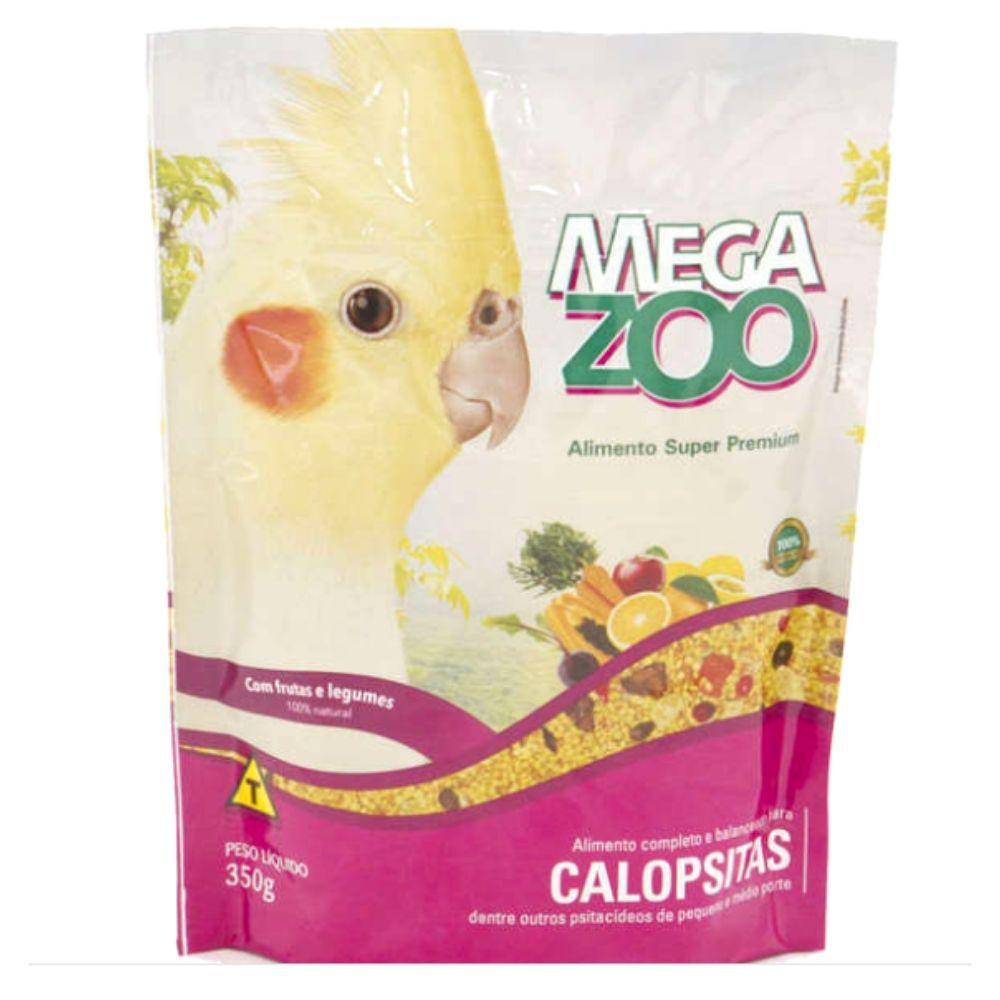 Ração para Calopsita Frutas e Legumes 350g Megazoo