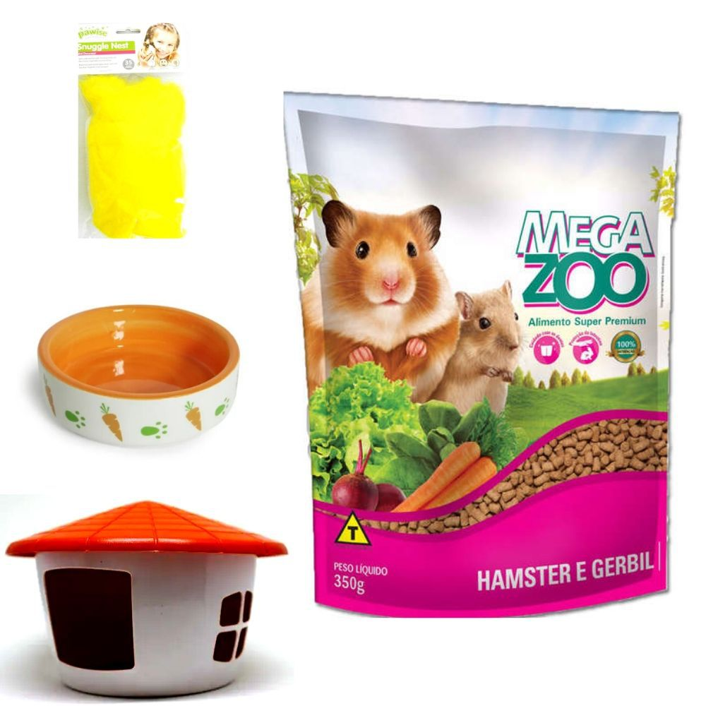 Ração para Hamster e Acessório para Sirio