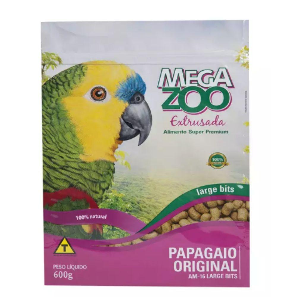 Ração para Papagaio AM16 Extrusada 600g Megazoo
