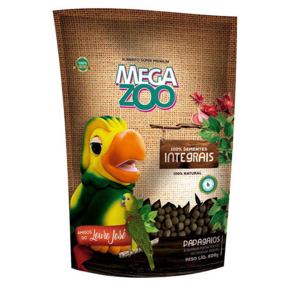 Ração para Papagaio Integral Amigos do Louro José 600 g Megazoo
