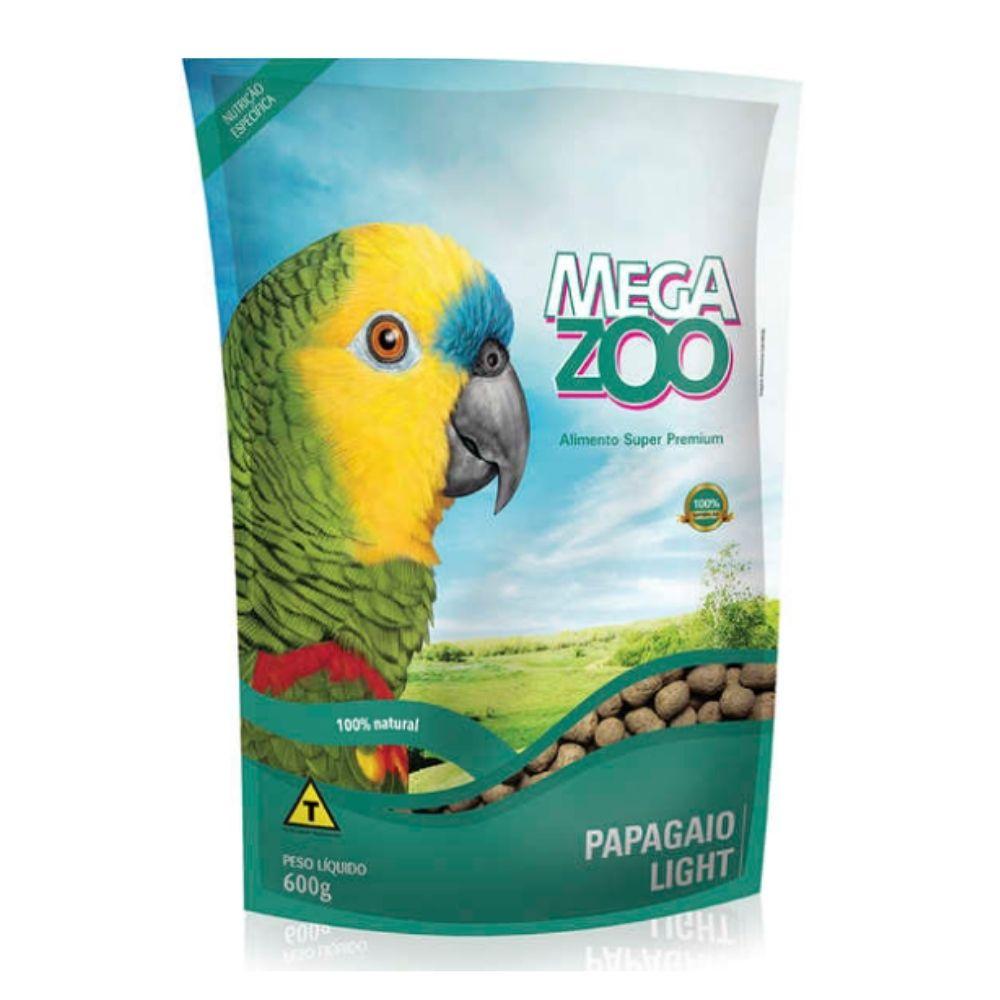 Ração para Papagaio light 600 g Megazoo