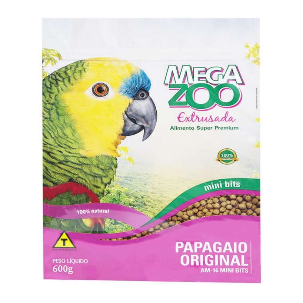 Ração para Papagaio Mini AM16 com 600g Extrusada Megazoo