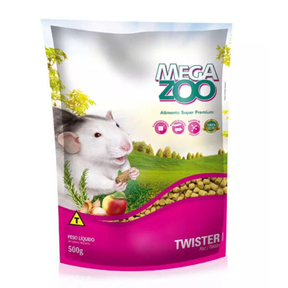 Ração para Rato Twister 500g Extrusada Megazoo