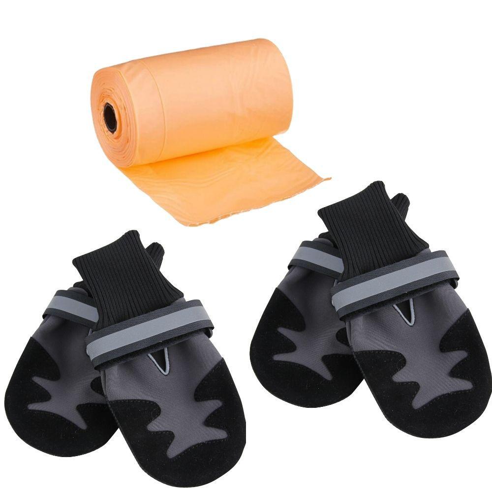 Sapato para Cachorro Tamanho P (2 pares) e 3 cata caca Pawise