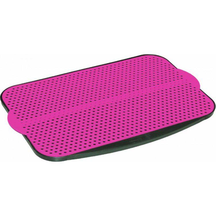 Suporte para tapete sanitario higiênico rosa Pet Injet